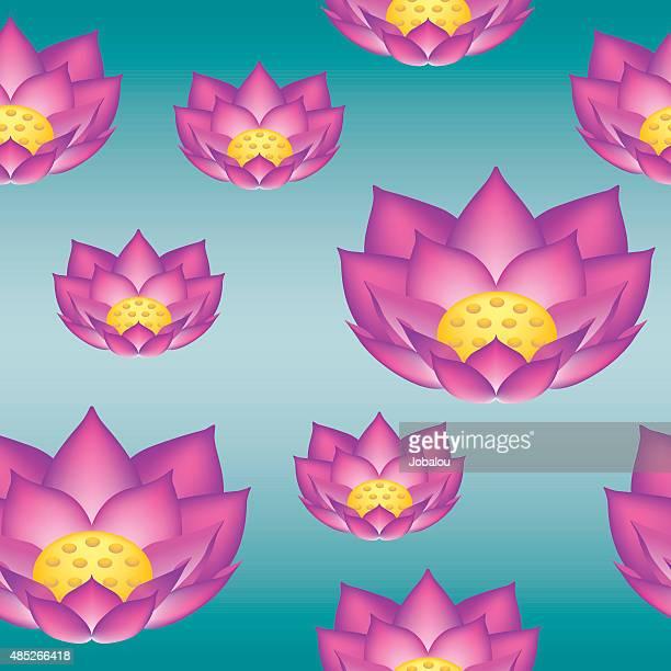 Lotus Flower Seamless Pattern