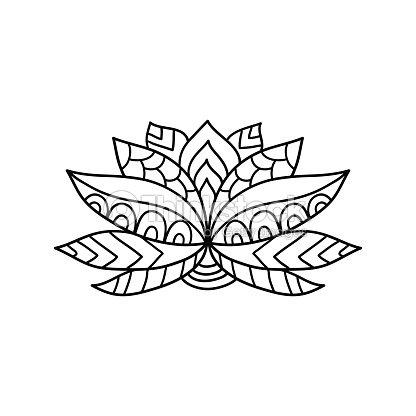 Lotus Flower Silhouette Stock Vector Thinkstock