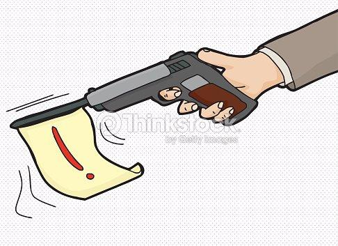 Loud Gun Symbol Vector Art Thinkstock