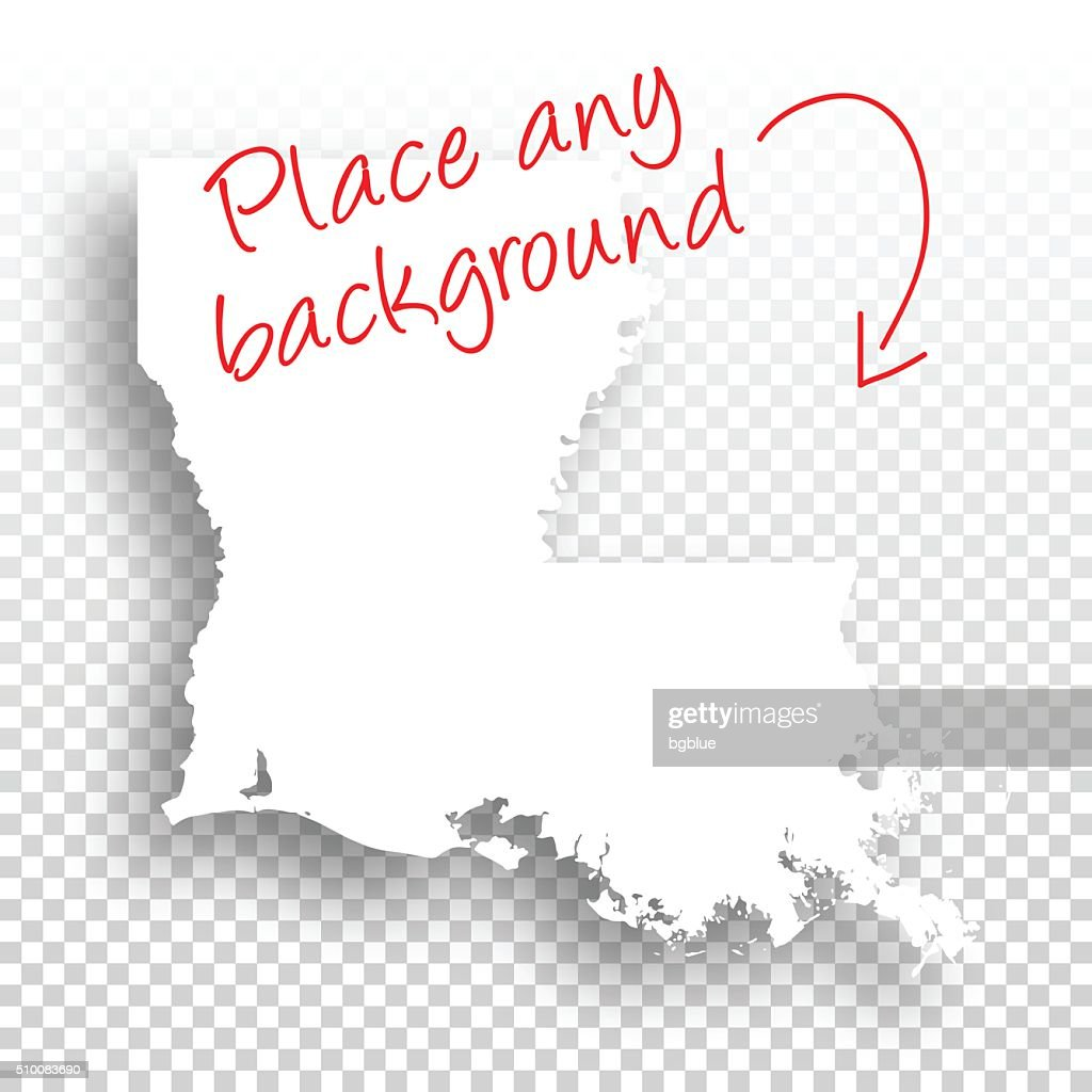 Louisiana Map For Design Blank Background Vector Art Getty Images - Blank louisiana physical map