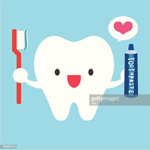 Me encanta cepillar los dientes