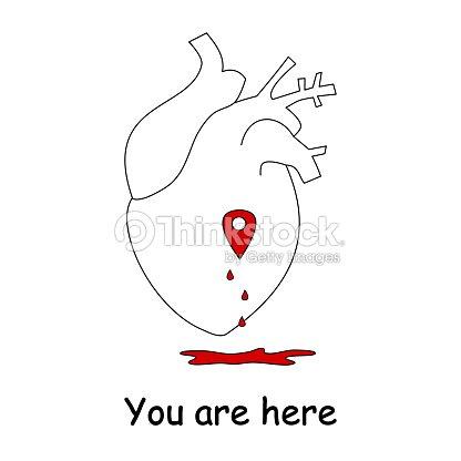 Ilustración De Vector De Concepto Con Corazón Humano El Amor Y Mapa ...