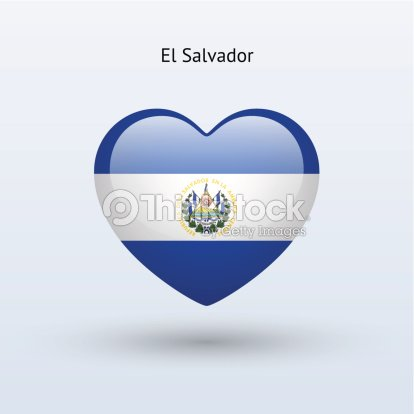 Love El Salvador Symbol Heart Flag Icon Vector Art Thinkstock