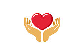 Love Giving Heart Love Hands Holding icon,