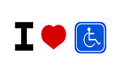 I love handicap sign