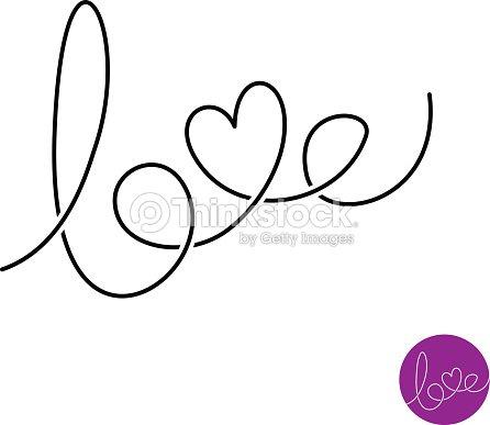 Smbolo De Lnea Texto Cartas Amor Arte Vectorial