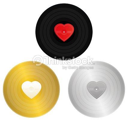 Liebe Lieder Records Schwarz Gold Und Silberrekord Mit ...