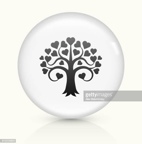 Love Tree icon on white round vector button