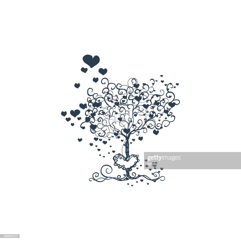 Liebe Baum : Vektorgrafik