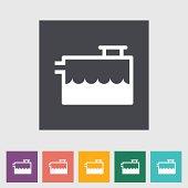 Low coolant indicator. Single flat icon. Vector illustration.
