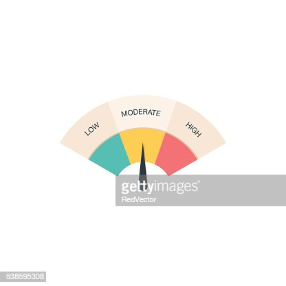 Low, Moderate and High gauges : stock vector