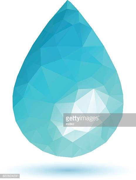Low poly Water Drop