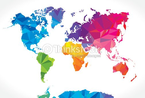 Low poly world map vector art thinkstock low poly world map vector art gumiabroncs Image collections
