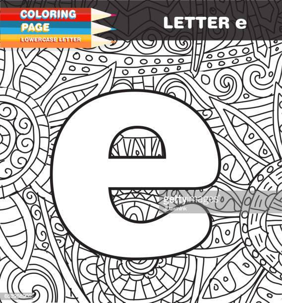 Lower case letter Coloring page doodle