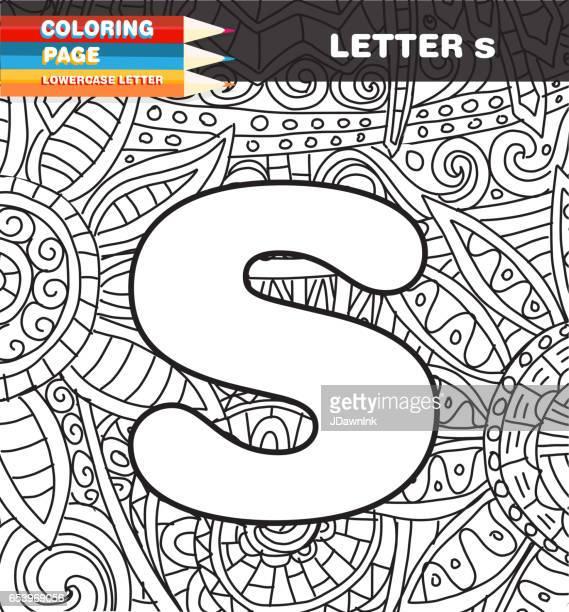 Onderkast letter kleurende pagina doodle