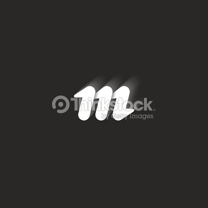 Lowercase Bold Letter M Graphic Design Element Black And White Style