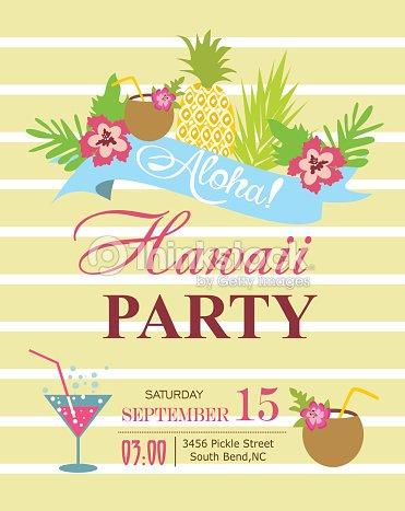 luau party invitation card vector art thinkstock