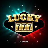 Lucky 777 jackpot, triple sevens casino banner.