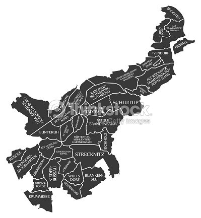 Cartoon Map Of Germany.Luebeck City Map Germany De Labelled Black Illustration Stock Vector