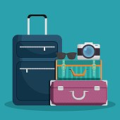 luggage travel icon image vector illustration design