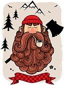 Illustration of lumberjack.