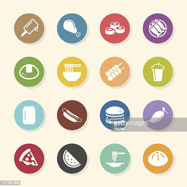 Lunch Icons - Color Circle Series