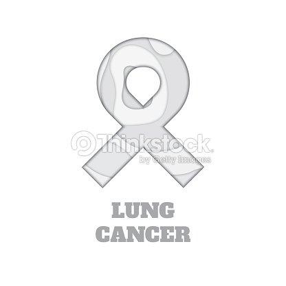 Lung Cancer Awareness Paper Cut Ribbon Vector Art Thinkstock