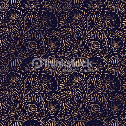 Luxury background vector. Floral royal pattern seamless. Indian design for yoga wallpaper, beauty spa salon ornament, indian wedding party, birthday wrapping paper, save the date card, holiday gift. : stock vector