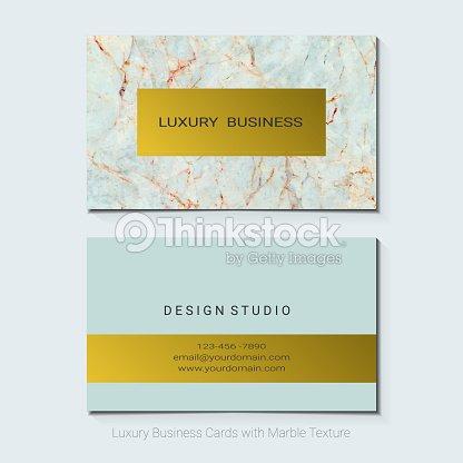 Cartes De Visite Luxe Vector Modele Banniere Et Couvrir Avec La Texture Marbre Les Details Feuille Dor Sur Fond Blanc Style Simple Aussi