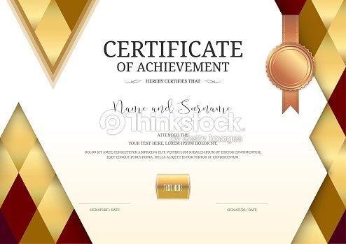 Graduation Certificate Template   Luxury Certificate Template With Elegant Border Frame Diploma Design