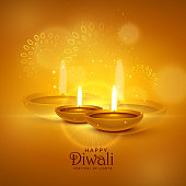 luxury diwali festival greeting background with decorative elements
