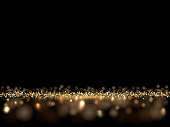 Luxury golden glittering dark background. Vector VIP background for posters, banners or cards.