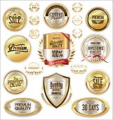 Luxury quality golden badge retro collection