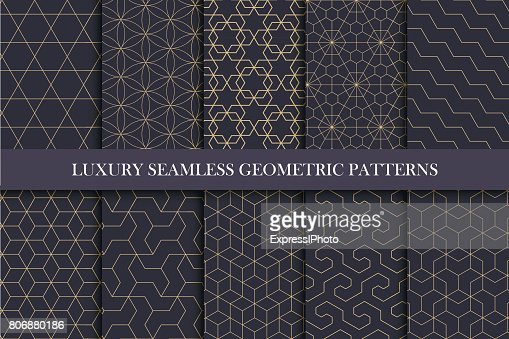 Luxury seamless ornamental patterns - geometric rich design. : stock vector