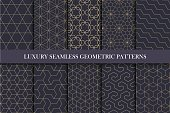 Luxury seamless ornamental patterns - geometric rich design. You can find seamless backgrounds in swatches panel.