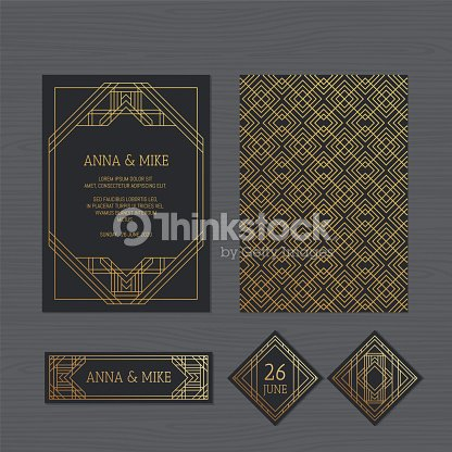 Luxury wedding invitation or greeting card with geometric ornament paper lace envelope template wedding invitation envelope mock up for laser cutting vector illustration stopboris Choice Image