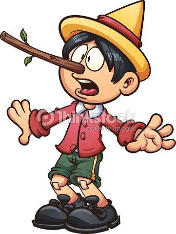 Lying Pinocchio : Vektorgrafik