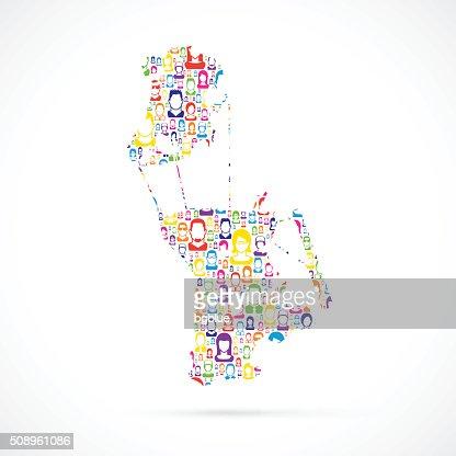 Macau Map With People Vector Art Getty Images - Macau map