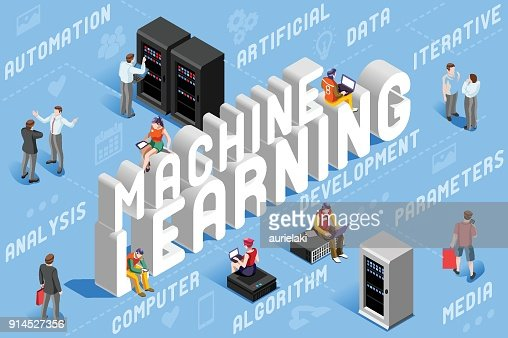 Machine Learning Illustration : clipart vectoriel