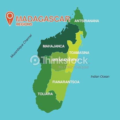 Madagascar Map Regions Vector Art | Thinkstock