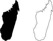 Madagascar map vector illustration, scribble sketch Madagascar