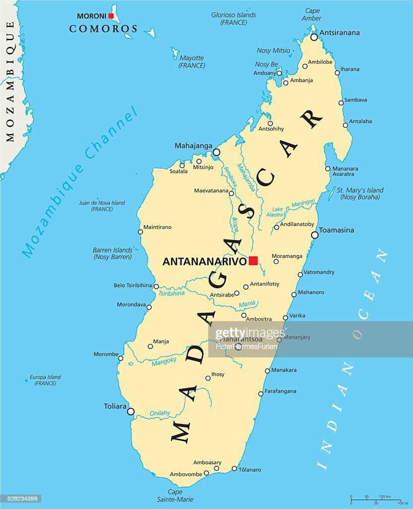 Madagascar Political Map Vector Art Thinkstock