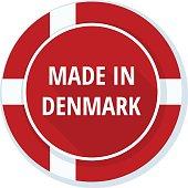 Made in Denmark label illustration