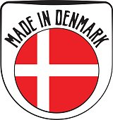 Made in Denmark badge sign. Vector illustration