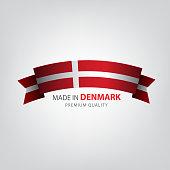 Made in Denmark, seal, Flag, (Vector)
