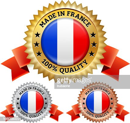Made in France Badge royalty free vector icon set : Vector Art