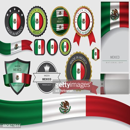 Made In Mexico Seal Drapeau Mexicain Clipart Vectoriel Thinkstock