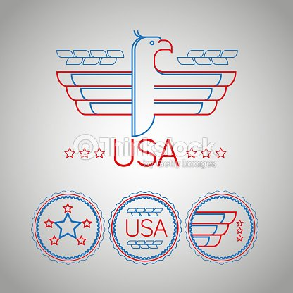 Made In The Usa Symbol With American Color Vector Art Thinkstock