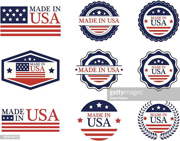 Made in USA labels - VECTOR