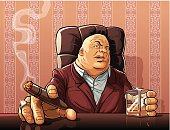 Boss of a mafia clan.